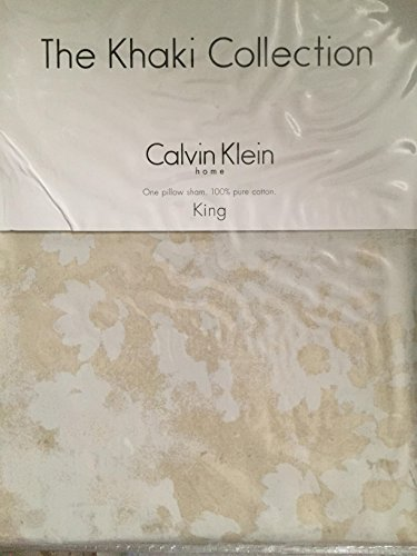 The Khaki Collection Calvin Klein TINTED FLOWER Sandwash King Sham