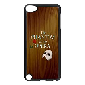 Customize Generic Hard Plastic Shell Phone Cover The Phantom of the Opera Back Case Suitable For iPod 5 Touch 5th Generation