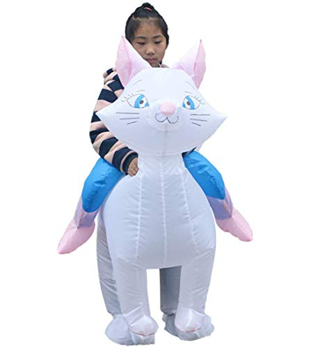 YFJL Halloween Inflatable cat Children's Party Stage Performance Inflatable Clothing Role-Playing Funny Children's Fun Toys