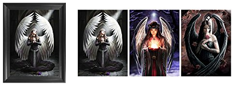 Framed Poster Lingerie (Angel of Mercy Framed 3D Lenticular Picture - Unbelievable Life Like 3D Art, Changes between different images! Lenticular Posters, Cool Art Deco, Unique Wall Art Decor, Dozens to Choose From!)