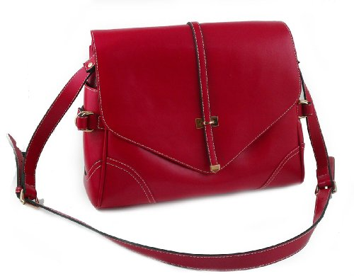 Giorry Yippydada Foxy Real Leather Baby Diaper Bag, Red