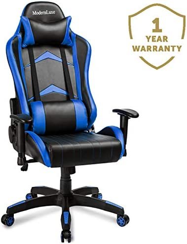Merax Gaming Chair Computer Home Desk Chair Racing Comfy Office Chair Ergonomic High Back Reclining Executive Chair Comfortable for Gamers Teens Adult Kids