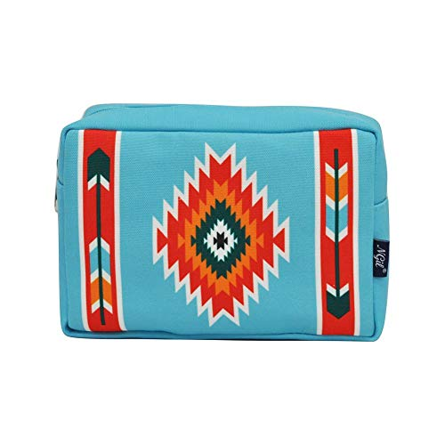 NGIL Large Travel Cosmetic Pouch Bag 2019 Collection (Western Tribe Turquoise)