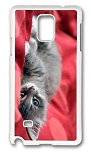 Adorable kitten cute Hard Case Protective Shell Cell Phone Samsung Galaxy Note3 - PC White hjbrhga1544