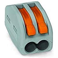 WAGO® Klem, 2-geleiders, 4 mm², verbindingsklem met hendel, 222-412 (50 stuks)