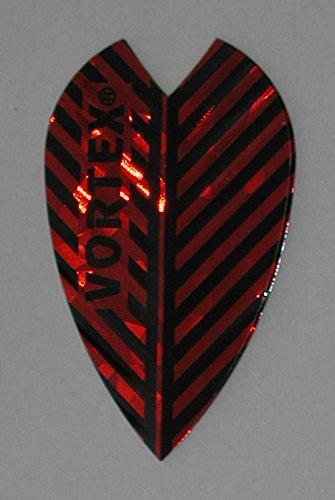 Vortex Flights - US Darts Harrows - 3 Sets (9 Flights) Vortex, Red, Dart Flights - Larger Size