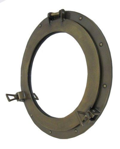 ITDC Aluminio Ojo de Buey Espejo Acabado Antiguo–1