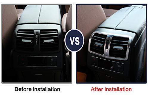 TongSheng ABS Chrome Armrest Rear Air Condition Outlet Vent Cover Trim Sticker for Mercedes Benz W212 E-Class ()