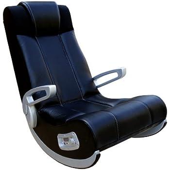 X-Rocker 5127301 Ii Se Black Wireless/Rails/Ff-Speakers/Silver Plastic Arms