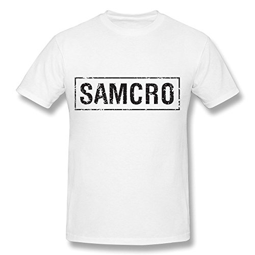 (PASSION Men's SAMCRO T-shirt White XXL)