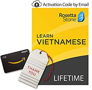 Rosetta Stone: Learn Vietnamese [Lifetime Online/Mobile Access - Digital Code] with Amazon.com $10 Gift Card (B07GLQBCW9) | Amazon price tracker / tracking, Amazon price history charts, Amazon price watches, Amazon price drop alerts