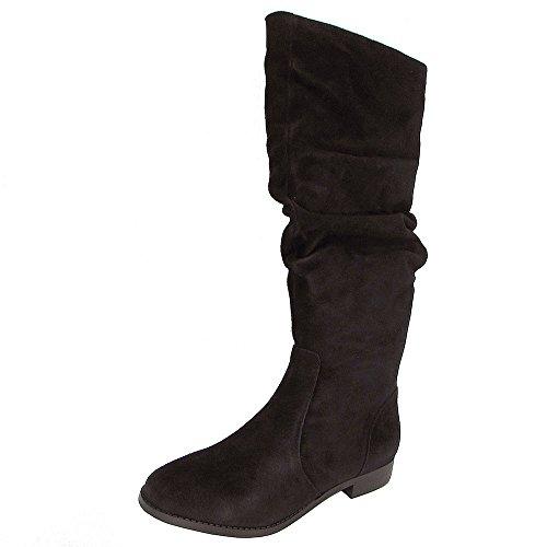Steve Madden Women's Beacon Fashion Boot, Black Suede, 7 M (Steve Madden Knee High Boots)