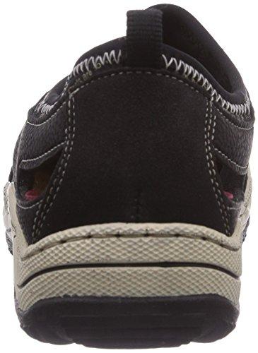 schwarz Basse 01 schwarz Nero Donna schwarz Rieker Sneaker schwarz L0596 EY1CqnwH