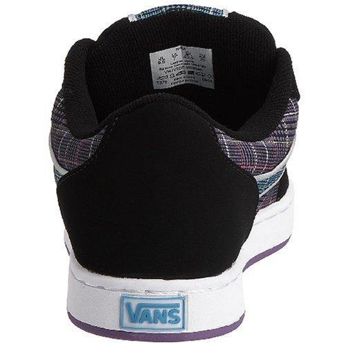 Vans - Zapatillas de deporte de cuero nobuck para mujer Negro