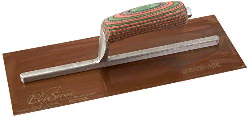 Kraft Tool PLE460 Elite Series Five Star Golden Stainless Steel Plaster Trowel with Wood Handle, 13 x 5-Inch