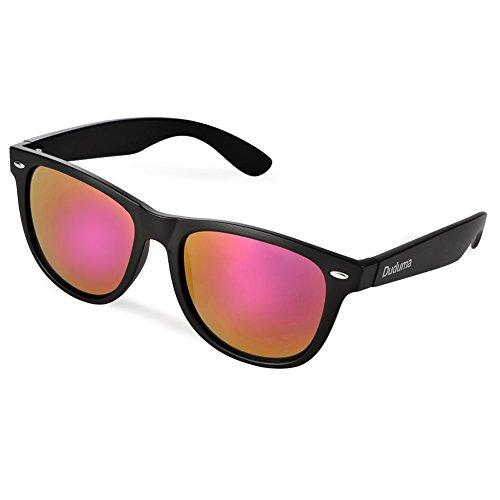Gafas Colors Espejo UV400 Reflectante Lentes Unisex de Negro Duduma Sol de Revo Vintage xTAHqf
