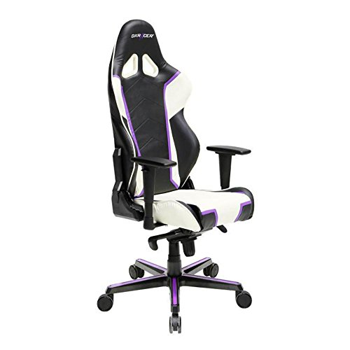41QRUfzaazL - DXRacer-OHRH110NWV-Black-White-Racing-Series-Gaming-Chair-High-back-Ergonomic-Home-Office-Adjustable-Swivel-Racing-eSports-Computer-Chair-with-Lumbar-Cushion-and-Headrest-Pillow