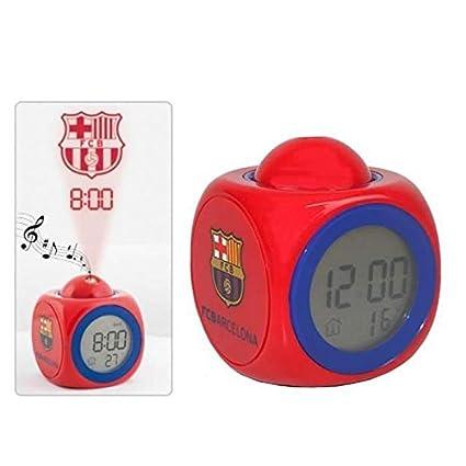 despertador proyector BarcelonaAnunciado TV oficial FC Reloj en 8ONwv0yPmn