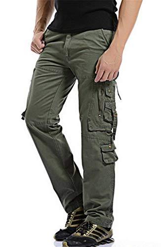 Cotone Grigio Pantaloni Con Qualità Outdoor Grau Cargo Alta Tasche Abbigliamento Lavoro Uomo Da Lunghi Chiusura Laterali In ZcrrHOaqt8