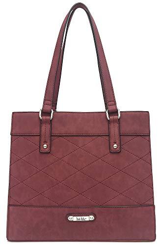 Nicole Miller New York Tabitha Tote Handbag One Size Wine red