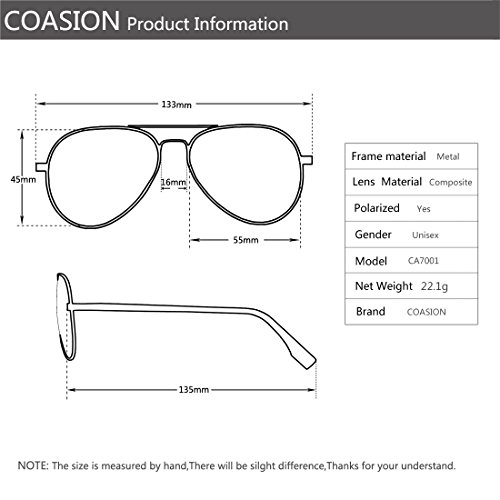 bc24a7cc43 Polarized Aviator Sunglasses for Juniors Small Face Women Men Vintage UV400 Protection  Shades(Silver Frame