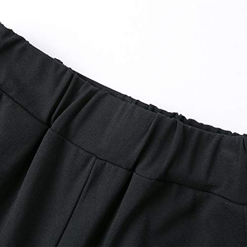 Nero Classici Pantaloni Zhrui Neri Larghi Donna Eleganti 0qHO1