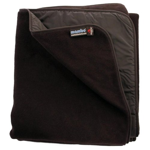 Mambe Blanket Waterproof / Windproof Outdoor Blanket with Stuff Sack, Large - Black