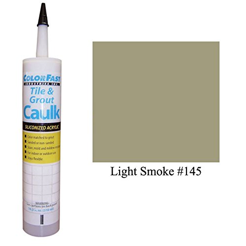 Color Fast Caulk Matched to Custom Building Products (Light Smoke Sanded) ()