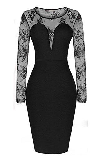 shelovesclothing - Robe - Moulante - Femme noir noir M