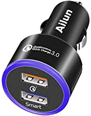 Ailun Quick Charge 3.0 Car Charger with Dual Charging Ports FBA
