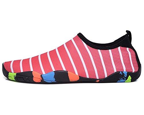 Tiebao Uomo E Donna Water Shoes Scarpa Leggera A Piedi Nudi Per Il Surf Beach Yoga Rosso