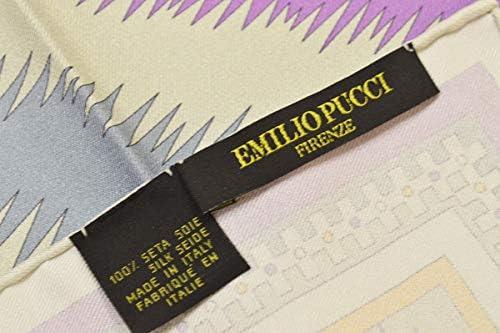 (エミリオプッチ)ポケットチーフ メンズ プッチ柄シルクポケットチーフ(サイズ32×32cm)eep19w127 パープル
