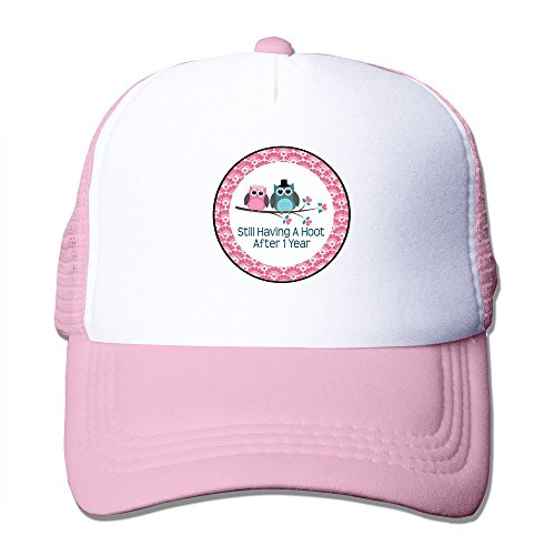 ELIUMS Wedding Anniversaries Mesh Trucker Baseball Cap Hat Pink