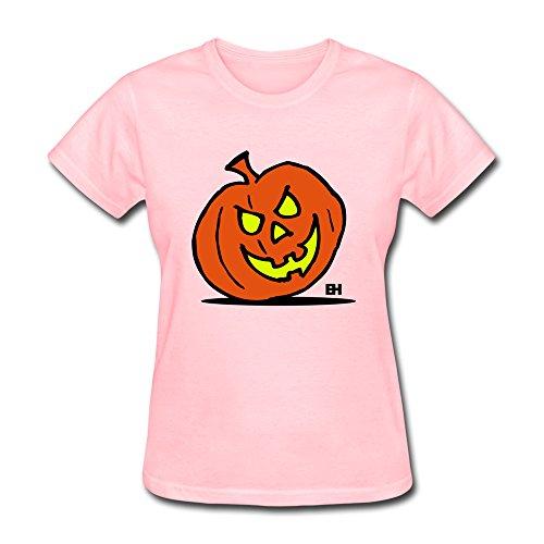 Jackolantern Halloween Women 100% Cotton Teeshirts By Hapman1