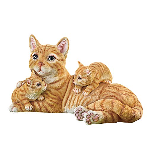 Collections Etc Realistic Mama Cat with Kittens Figurine - Garden, Yard and Home Decorative Accent from Collections Etc
