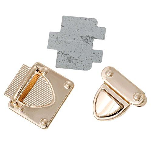 PEPPERLONELY Brand 10 Sets Rose Gold Handbag Suitcase Purse Twist Turn Locks (Twist Lock Handbag)