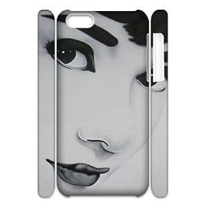 DIY iPhone 5C Case, Zyoux Custom Brand New 3D iPhone 5C Case - Zombie Audrey Hepburn