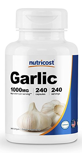Nutricost Garlic 1000mg, 240 Softgels - Premium, High Potency, Gluten Free Garlic Supplement