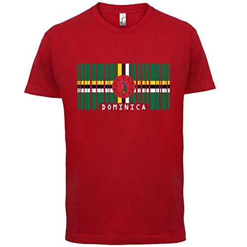 Dominica Barcode Flagge - Herren T-Shirt - Rot - XS