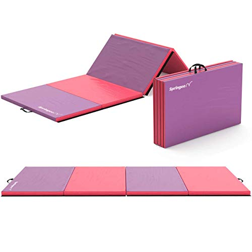 Springee Gymnastics Mat 4′ x 10′ x 2″ Tumbling Mat – Gymnastics Equipment for Home