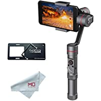 Zhiyun Smooth 3 Handheld 3-Axis Gimbal Stabilizer for Smartphones and Gopro Hero 3/4/5 up to 9oz / 3.4 Width, CNC Aluminum, Handwheel for Camera Settings, 14Hrs of Run-time