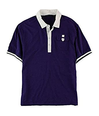 Sean John Mens Colorblock Rugby Polo Shirt