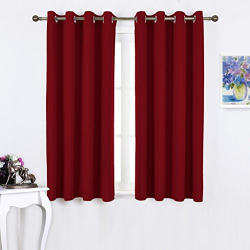 NICETOWN Burgundy Blackout Curtains Grommet product image