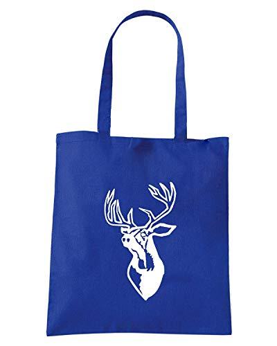 FUN0417 Blu Royal Borsa STAG Shopper xtSqpwY