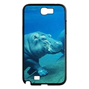 WJHSSB Diy Phone Case Hippo Pattern Hard Case For Samsung Galaxy Note 2 N7100