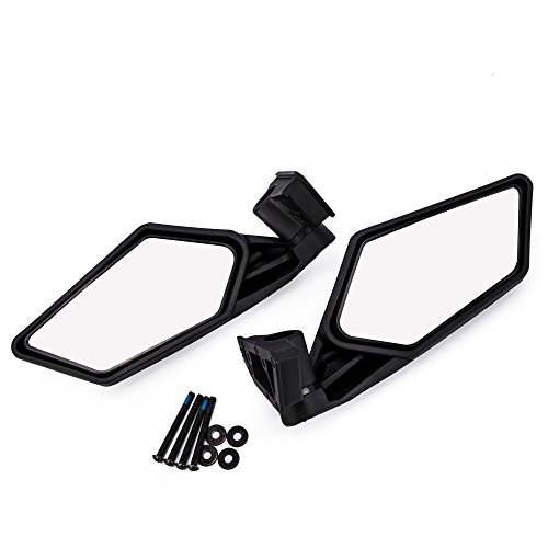 (TOPMOUNT UTV Can Am X3 Side View Mirrors for Can Am Maverick X3 2017 2018 For Suzuki Quadracer 450 2006-2009 UTV (1 Pair) With With 1pcs Cleaning Towels)