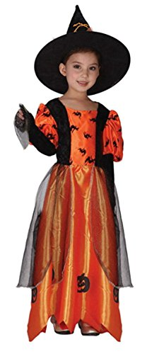 La Vogue Girls Storybook Witch Costume Halloween Cosplay Dress (Storybook Witch Costume)