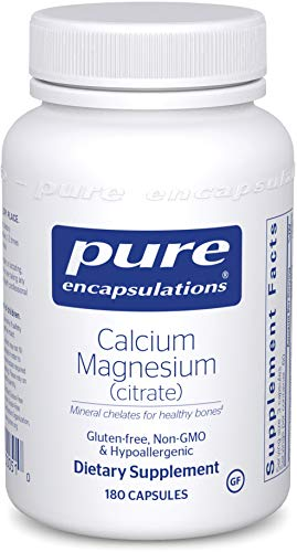 Cheap Pure Encapsulations – Calcium Magnesium (Citrate) – Highly-Absorbable, Hypoallergenic Calcium Supplement with Magnesium – 180 Capsules