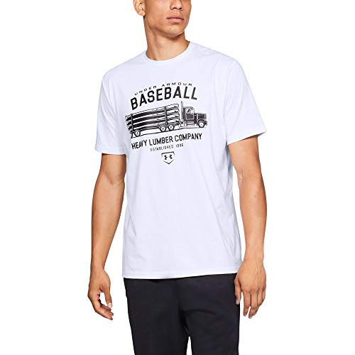 Under Armour Men's IL Graphic Short sleeve Lumber, White (100)/Black, XX-Large (Mens Under Armour Graphic Tees)