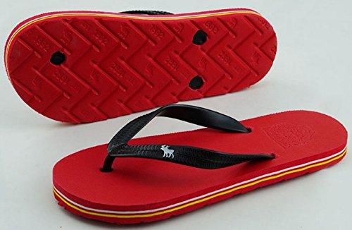 Bettyhome Moda Uomo Antiscivolo Confortevole Infradito Sandali Piatti Sandali Piatti Infradito Da Spiaggia Rosso Pantofole